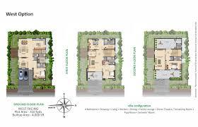 high end home plans mayfair villas by greenmark developers in tellapur hyderabad