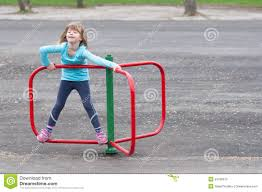 on small merry go stock image