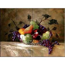 the tile mural store america u0027s bounty 24 in x 18 in ceramic