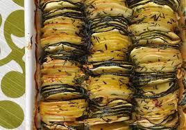 recette de cuisine avec des courgettes tian de pommes de terre et de courgettes au thym recettes de
