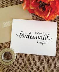 bridesmaid asking cards lovely will you be my bridesmaid card personalized asking