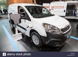 peugeot partner 2016 the new peugeot partner electric van stock photo royalty free