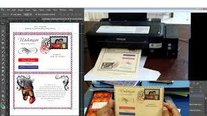 cara membuat surat undangan pernikahan sendiri membuat undangan pernikahan sendiri model lop dengan printer