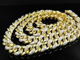 real gold chain necklace images 55 mens gold diamond chain 10k white gold 1200 ct diamond mens jpg