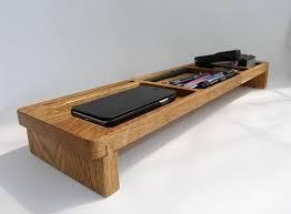telephone stand desk organizer wood desk organizer tray office organization phone stand desk