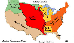 usa map louisiana purchase u s history 1803 1853 timeline timetoast timelines