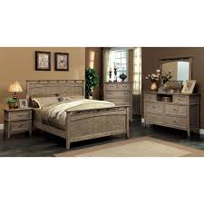 furniture of america tarpa collection 6 drawer dresser weathered