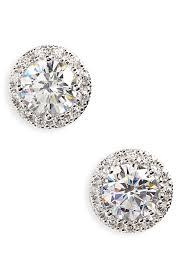 cubic zirconia stud earrings nordstrom 3 48ct tw cubic zirconia stud earrings nordstrom