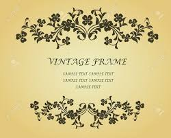 Victorian Design Style by Vintage Frame With Clover In Victorian Style For Design As A