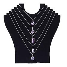 necklace display stand images Bluelans black velvet multi necklace display stand bust jewelry jpg