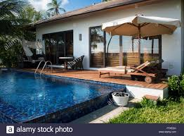 Outside Pool Swimming Pool And Outside Luxury Villa In The Residence Hotel In