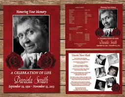 funeral program funeral program memorial service celebration of