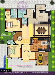 bungalow house with floor plan 2951 sq ft 4 bedroom bungalow floor plan and 3d view kerala