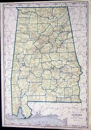 Map Of Florida And Alabama by Prints Old U0026 Rare Alabama