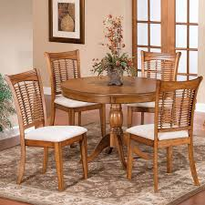 Round Dining Sets Hillsdale Bayberry 44 In Round Pedestal Dining Table Dark Cherry