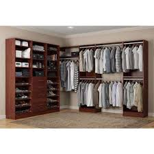Closet Systems With Doors 15 In Wood Closet Systems Organizers The Home Depot With Regard To