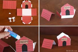 printable snoopy dog house kid craft liz call