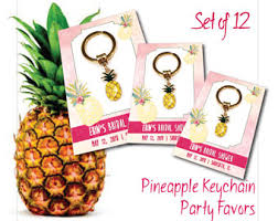 personalized keychain party favors pineapple favors etsy