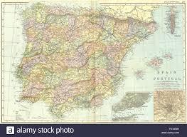Madrid Spain Map Spain U0026 Portugal Lisbon Madrid Gibraltar 1905 Antique Map