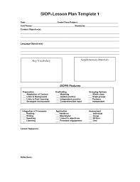 10 best images of siop lesson plan template 3 model template
