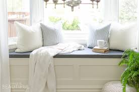 Bedroom Bench With Storage Diy Window Bench With Storage A Burst Of Beautiful