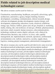 medical technologist job description associate medical director
