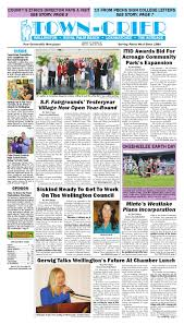 town crier newspaper april 22 2016 by wellington the magazine llc