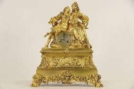 Mantel Clocks Sold French Gilt Bronze Figural 1820 U0027s Antique Silk Suspension