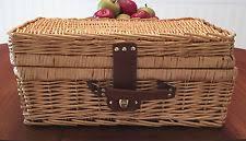Picnic Basket Set For 4 Unbranded Wicker New Picnic Baskets U0026 Backpacks Ebay