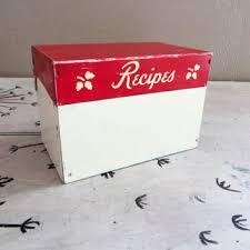 Red Kitchen Recipes - shop vintage recipe box on wanelo