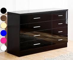 Bedroom Furniture Glasswells Prs Group Uk Venetian Black Glass Chest Of Drawers 4 Drawers Split