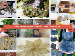 recycled home decor projects 8 easy diy recycling crafts its time to empty recyle bin