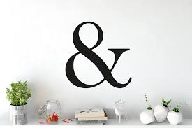 unique wall stickers wall decals custom wall stickers 40 ampersand letter wall sticker
