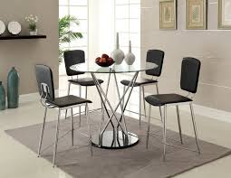 glass counter height table sets glass round counter height table sets table designs