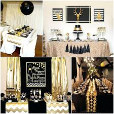 themed table decorations black white and gold decor black and gold party table decorations
