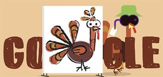thanksgiving 2017 doodle marks thanksgiving with a turkey