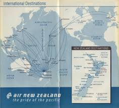 Easyjet Route Map by Airline Memorabilia Air New Zealand 1993