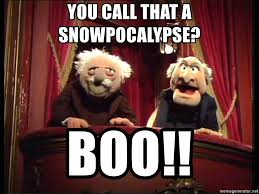 Waldorf And Statler Meme - you call that a snowpocalypse boo statler and waldorf box