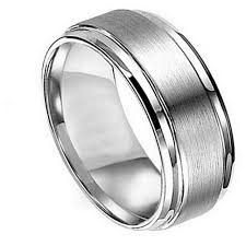 view gallery of stylish black and silver mens wedding band