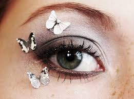 3pcs butterfly eye makeup stickers product accessory