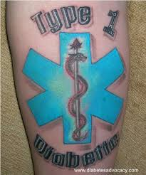 type 1 diabetic medical tattoo the health room by american