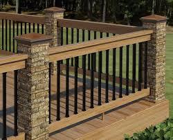 20 creative deck railing ideas for inspiration stone pillars