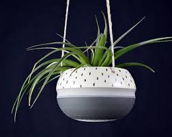 White Hanging Planter by Minimal Planter Etsy