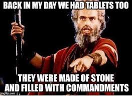 Back In My Day Meme - back in my day tablets christian meme dust off the bible
