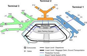 chicago o hare terminal map chicago ohare airport terminal map