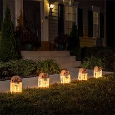 wars r2 d2 luminary lighted outdoor décor thinkgeek