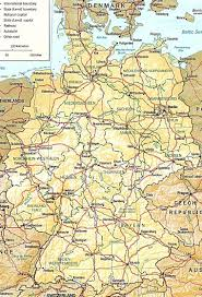 map of deutschland germany geography detailed map of germany