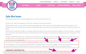 Example Of Resume To Apply Job Baskin Robbins Career Guide U2013 Baskin Robbins Application Job
