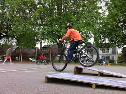 obstacle course walk bike schools