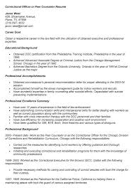 Sample Correctional Officer Resume by Correctional Officer Resume Samples Corrections Officer Resume